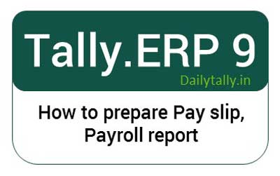 how to learn payroll in tally