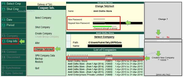 How to use TallyVault in Tally ERP 9