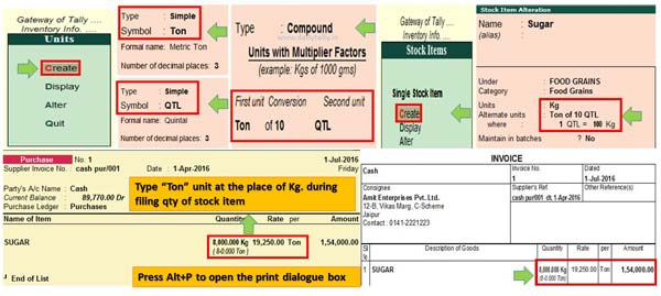 Create Simple and Compound Units in Tally ERP 9