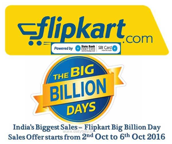 flipkart-big-billion-day-sales-offer-starts-from-2-6-oct-2016