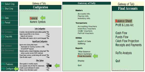 how-to-active-separate-menu-for-final-accounts-in-tally-erp-9